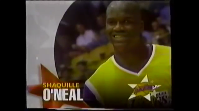 """""""Unable to participate and not here today, from the Los Angeles Lakers, Shaquille O'Neal"""": 1997 NBA All-Star Game Introductions (PartOne)"""