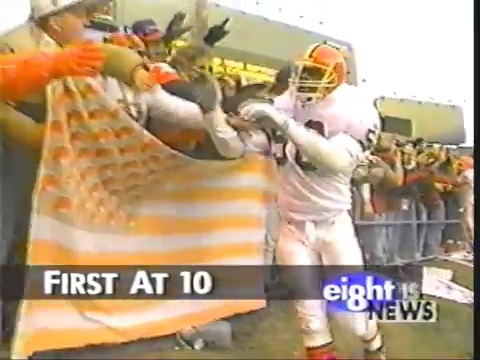 """But you know what we'll get another team and go to the Super Bowl before Art Modell does."" WJW coverage of the 1995 Cleveland Browns last game"